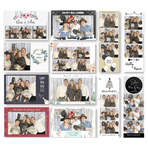 Ausgedruckte Fotos der Fotobox